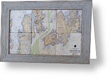 Framed Narragansett Bay Tile Set Greeting Card