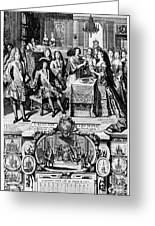 France: Baptism, 1704 Greeting Card