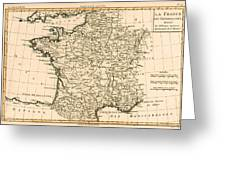 France By Regions Greeting Card