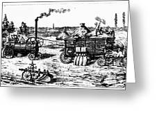 France: Steam Threshing Greeting Card