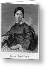 Frances Sargent Osgood (1811-1850). American Poet. Engraving From A Painting By Alonzo Chappel, C1873 Greeting Card