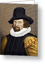 Francis Bacon, English Philosopher Greeting Card by Maria Platt-evans