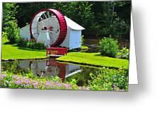 Franconia Notch Waterwheel Greeting Card