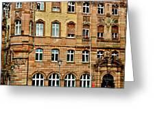 Frankfurt On A Rainy Day Greeting Card