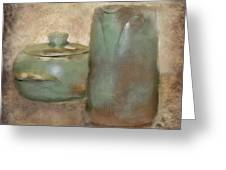 Frankhoma Pottery Greeting Card by Betty LaRue