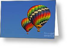 Fraternal Twin Balloons Greeting Card
