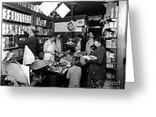 Fred Grovers Grocery Store Greeting Card by Photo Researchers
