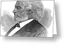 Frederick Douglass (c1817-1895). American Abolitionist. Wood Engraving, American, 1877 Greeting Card