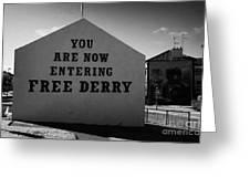 Free Derry Corner Northern Ireland Greeting Card