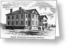 Freedmen School, 1868 Greeting Card