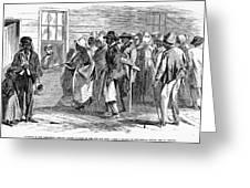 Freedmens Bureau, 1866 Greeting Card