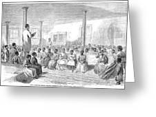 Freedmens School, 1866 Greeting Card by Granger