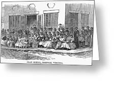 Freedmens School, 1868 Greeting Card by Granger