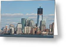 Freedom Tower And Manhattan Skyline II Greeting Card