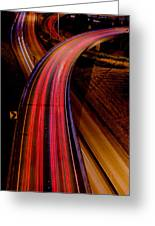 Freeway Lights 1 Greeting Card