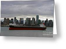 Freighter In Port Greeting Card