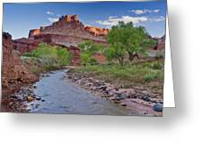 Fremont River And Castle Greeting Card