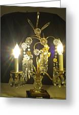 French Antique Lamp Greeting Card