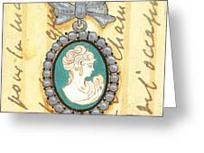 French Cameo 1 Greeting Card by Debbie DeWitt