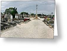 French Cemetery  Greeting Card