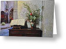 French Church Decorations Greeting Card