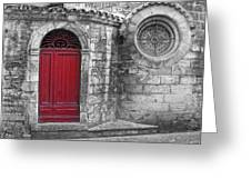 French Church Exterior Greeting Card