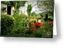French Cottage Garden Greeting Card