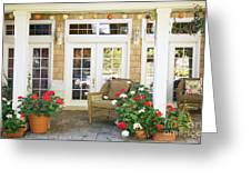 French Doors And Patio Greeting Card by Andersen Ross