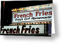 French Fries Sign Greeting Card