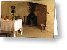 French Kitchen In Castelnaud Greeting Card