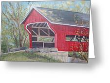 French Lick Covered Bridge Greeting Card