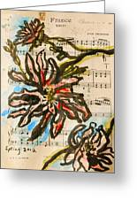 French Magnolia Minuet Greeting Card