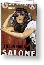 French Poster: Salome, 1918 Greeting Card