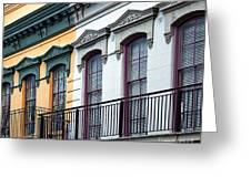 French Quarter Balconies Greeting Card