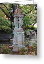 French Quarter Courtyard Statue New Orleans Greeting Card