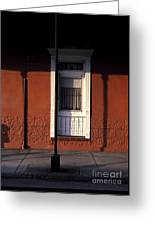 French Quarter Door And Shadows New Orleans Greeting Card