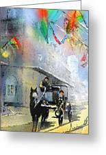 French Quarter In New Orleans Bis Greeting Card