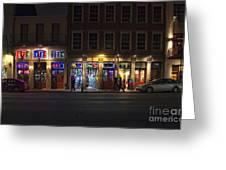 French Quarter Shopping At Night Greeting Card