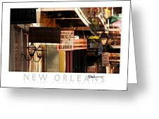 French Quarter Signs Greeting Card