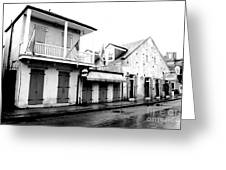 French Quarter Tavern Architecture New Orleans Conte Crayon Digital Art Greeting Card