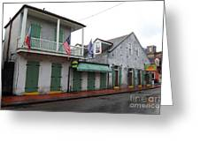 French Quarter Tavern Architecture New Orleans Greeting Card