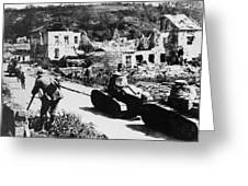French Renault Wwi Tanks - France  Greeting Card