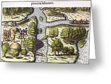 French: Sth. Carolina, 1562 Greeting Card