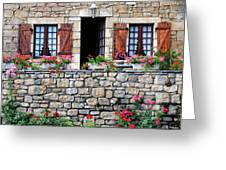 French Stone House Greeting Card