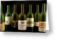 French Wine Labels Greeting Card