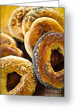 Fresh Bagels Greeting Card by Elena Elisseeva