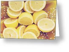 Fresh Lemons Greeting Card by Amy Tyler