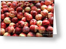 Fresh Nectarines - 5d17813 Greeting Card