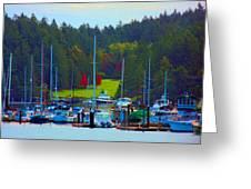 Friday Harbor Docks Greeting Card