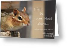 Friend For Peanuts Greeting Card